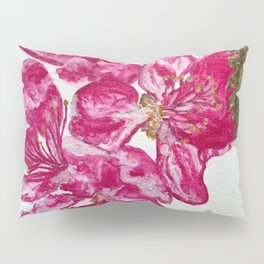 Wild Pink Floral Watercolour Pillow Sham