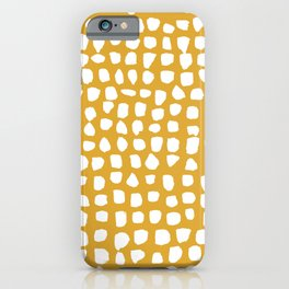 Dots (Mustard Yellow) iPhone Case