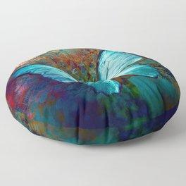 The Blue butterfly Floor Pillow