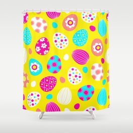 Easter Egg Party Pattern Shower Curtain