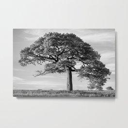 The Tree (Black and White) Metal Print