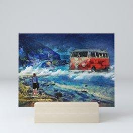 Road trip dream Mini Art Print