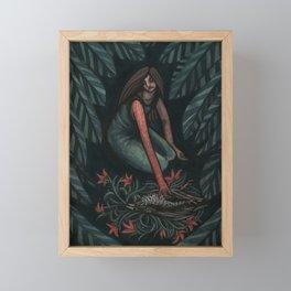 Death of a Staring Framed Mini Art Print