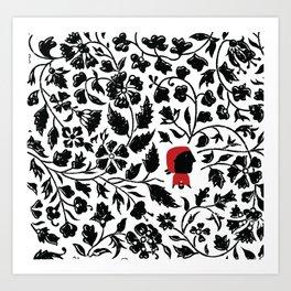Little Red forest Art Print