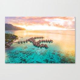 Bora bora Tahiti honeymoon beach resort vacation Canvas Print