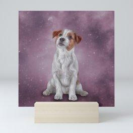 Jack Russell Terrier. Drawing, illustration funny dog Mini Art Print