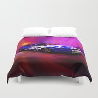 mustang Duvet Covers featuring Wild Mustang by JT Digital Art