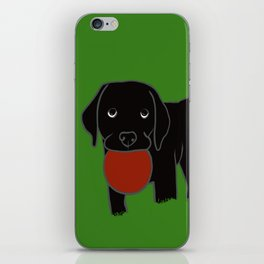 Black Lab Puppy iPhone Skin