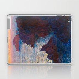 Claude Monet Impressionist Landscape Oil Painting Sunset At Sea Cliffs Ocean Cliff Landscape Laptop & iPad Skin