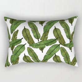 Banana Leaf - White Rectangular Pillow