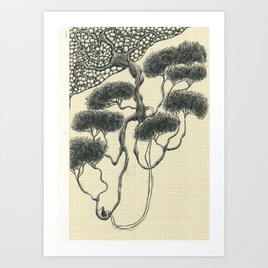 Artificial Tree N.14 Art Print