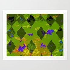 Argyle Frenzy in Zircon Art Print