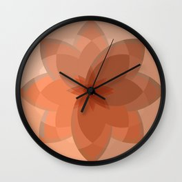 Neutral Circles - Beige Wall Clock