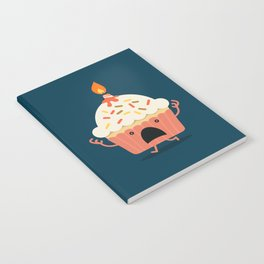 Cupcake on fire Notebook