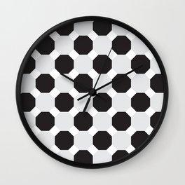 Black & Grey Hexagons Wall Clock