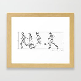 Transition through Triathlon Runners A Framed Art Print