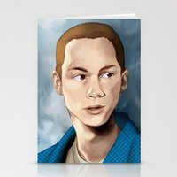 stiles stilinski Stationery Cards featuring Stiles Stilinski by Terry Blas