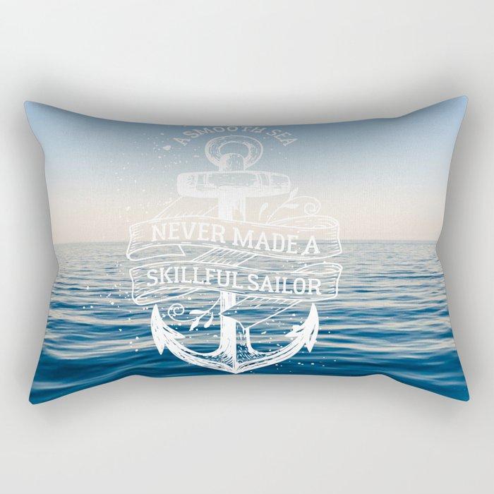 Sea Quote Rectangular Pillow
