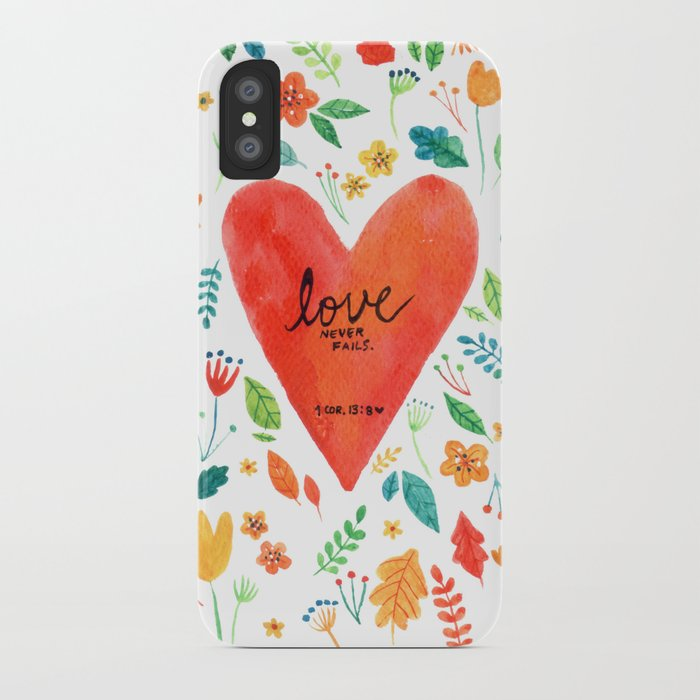 Love never fails iPhone Case