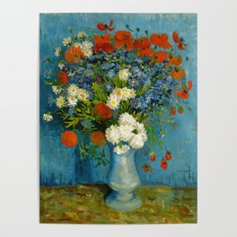 Vincent Van Gogh Vase With Cornflowers And Poppies Poster