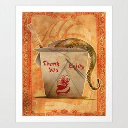 Tentacle Take-Out Art Print