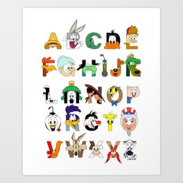 That's Alphabet Folks Art Print