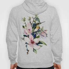 Hummingbird and Magnolia Flowers Hoody