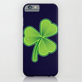 Green Shamrock on dark iPhone Case