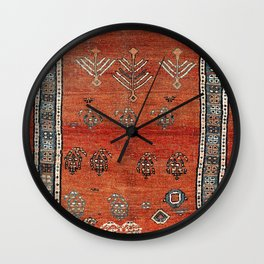 Bakhshaish Azerbaijan Northwest Persian Carpet Print Wall Clock