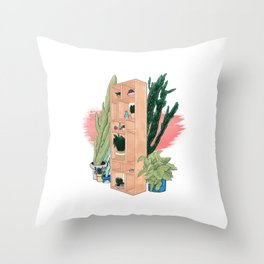 Office Plants Throw Pillow