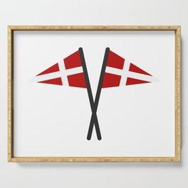 Denmark flag Serving Tray