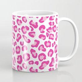 Leopard-Pinks on White Coffee Mug