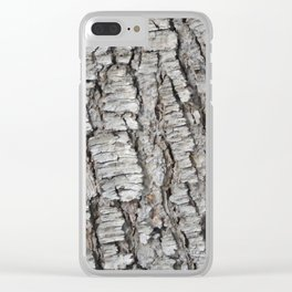 TEXTURES -- Spruce Bark Clear iPhone Case