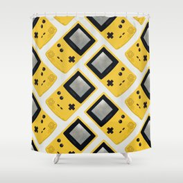 Gameboy Color: Yellow (Pattern) Shower Curtain