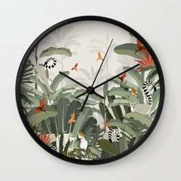 Madagascar Palm Wall Clock