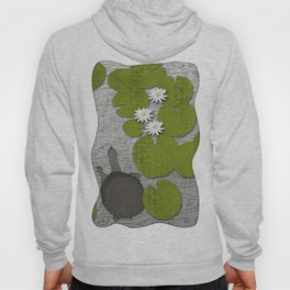 Water lilies with Florida Soft-shell Turtle Hoody