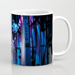 Tokyo's Moody Blue Vibes Coffee Mug