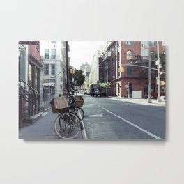 Bikes in Soho Metal Print
