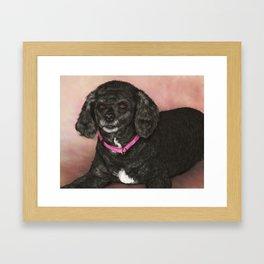 Black Poodle Painting Framed Art Print