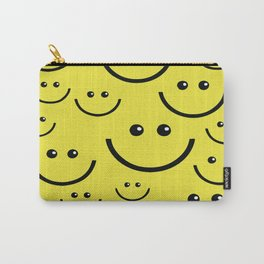SMILEY FACE Abstract Art Carry-All Pouch