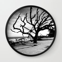Driftwood Beach Wall Clock