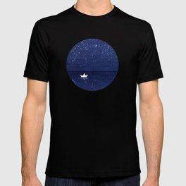 Zen sailing, ocean, stars T-shirt