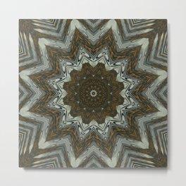 Deep Zoom Mandala Metal Print