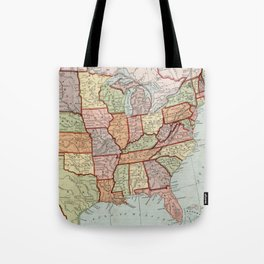 Vintage Map of The United States (1887) Tote Bag