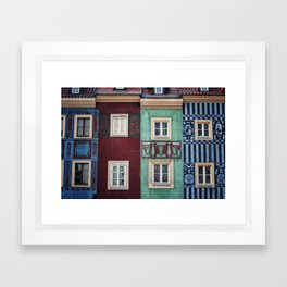 Details of Poznan Framed Art Print