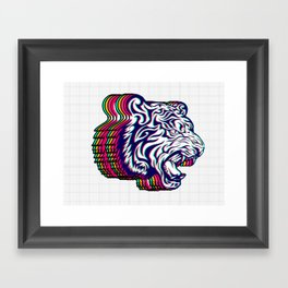 3D Tiger Framed Art Print
