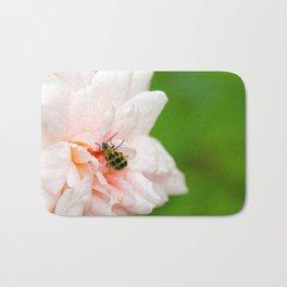 Cucumber Beetle & Winter Rose Bath Mat