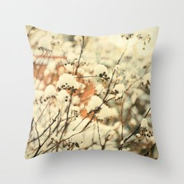 Vintage bush in the Snow Throw Pillow