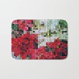 Mixed color Poinsettias 1 Mosaic Bath Mat