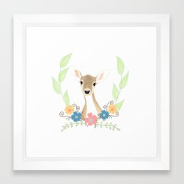 Pretty Deer Framed Art Print